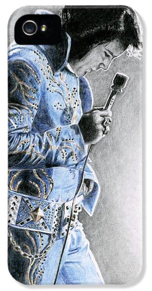 Elvis Presley iPhone 5s Case - 1972 Light Blue Wheat Suit by Rob De Vries
