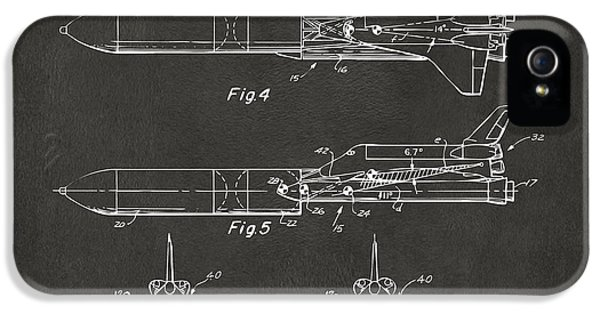 1975 Space Vehicle Patent - Gray IPhone 5s Case