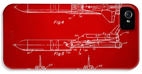1975 Space Vehicle Patent - Red IPhone 5s Case
