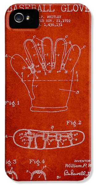 Baseball Glove Patent Drawing From 1922 IPhone 5s Case