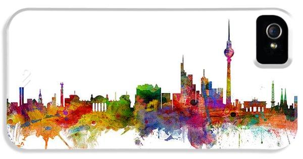 Berlin Germany Skyline IPhone 5s Case by Michael Tompsett