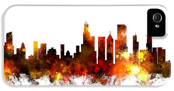 Chicago Illinois Skyline IPhone 5s Case by Michael Tompsett