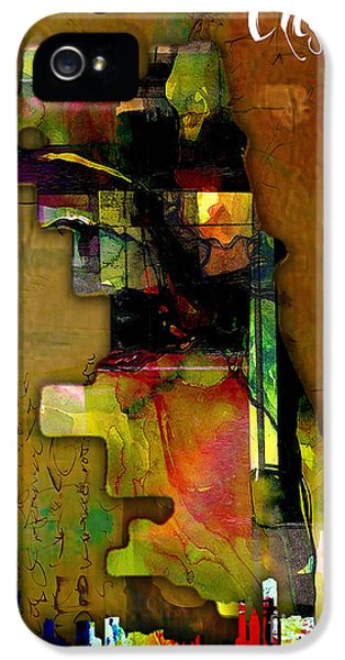 Chicago Map And Skyline Watercolor IPhone 5s Case by Marvin Blaine