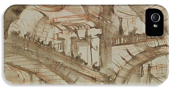 Dungeon iPhone 5s Case - Drawing Of An Imaginary Prison by Giovanni Battista Piranesi