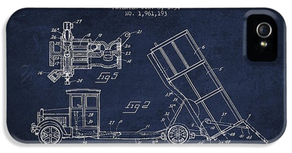 Dump Truck Patent Drawing From 1934 IPhone 5s Case