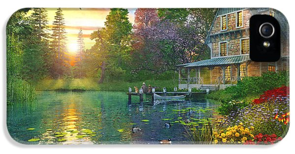 Goose iPhone 5s Case - Fishing At Sunset by Dominic Davison