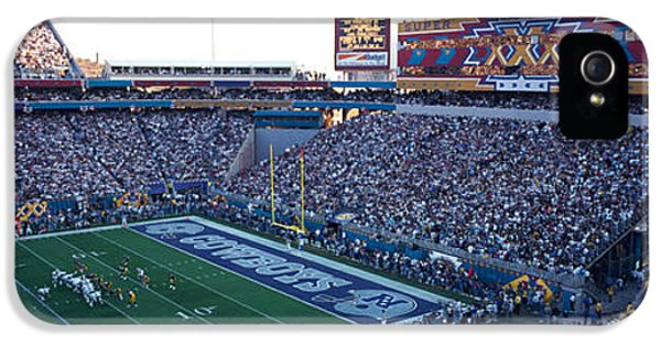 High Angle View Of A Football Stadium IPhone 5s Case
