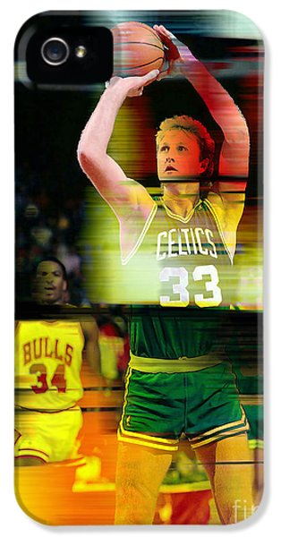 Larry Bird IPhone 5s Case by Marvin Blaine
