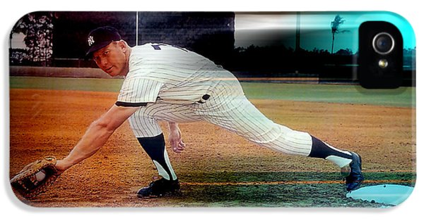 Mickey Mantle IPhone 5s Case by Marvin Blaine