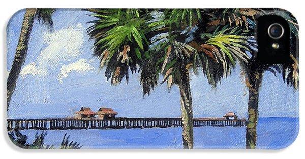 Clock iPhone 5s Case - Naples Pier Naples Florida by Christine Hopkins