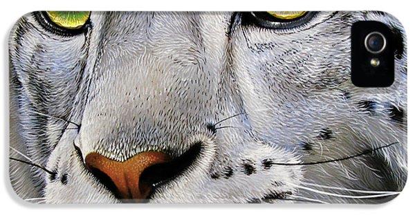 Snow Leopard IPhone 5s Case by Jurek Zamoyski