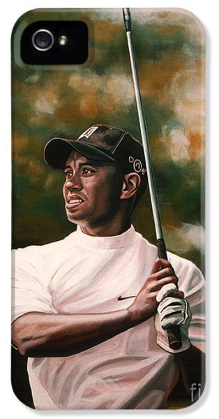 Tiger Woods  IPhone 5s Case by Paul Meijering