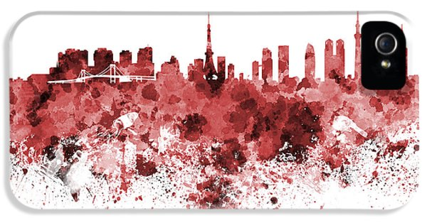 Tokyo Skyline In Watercolor On White Background IPhone 5s Case