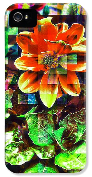 Edit iPhone 5s Case - Abstract Flowers by Chris Drake