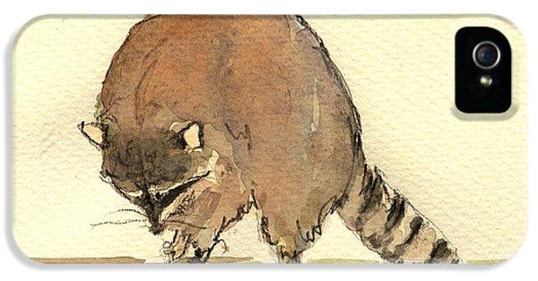 Raccoon IPhone 5s Case by Juan  Bosco