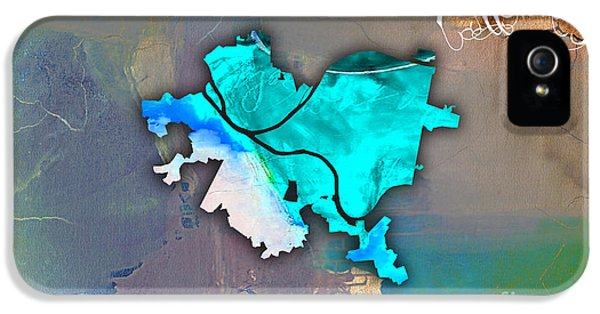 Pittsburgh Map Watercolor IPhone 5s Case
