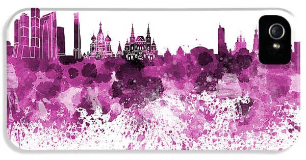 Moscow Skyline White Background IPhone 5s Case
