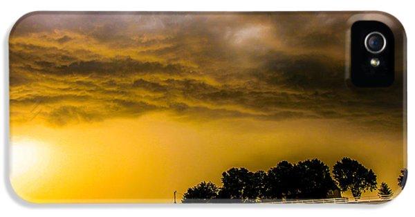 Nebraskasc iPhone 5s Case - Late Afternoon Nebraska Thunderstorms by NebraskaSC