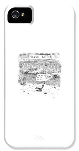 Pigeon iPhone 5s Case - Captionless by Roz Chast