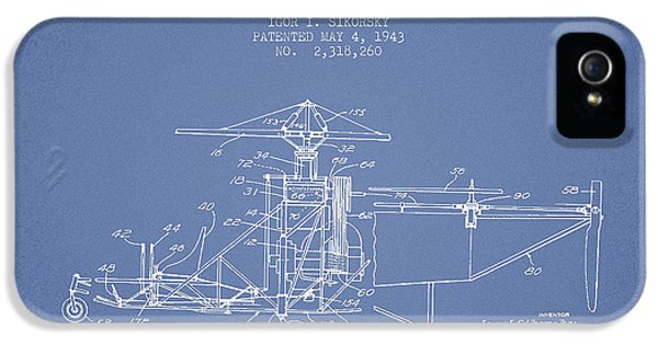 Helicopter iPhone 5s Case - Sikorsky Helicopter Patent Drawing From 1943 by Aged Pixel