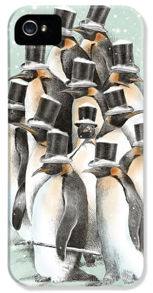 Penguin iPhone 5s Case - A Gathering In The Snow by Eric Fan