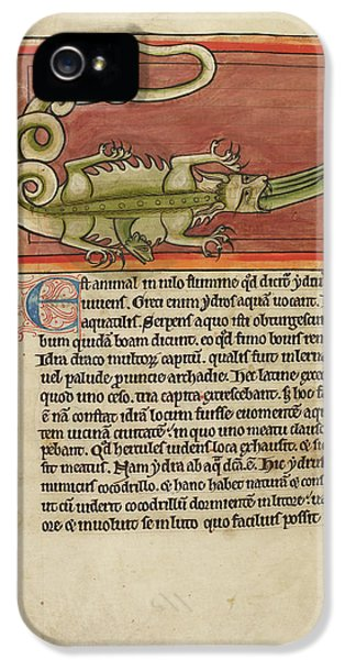 Crocodile iPhone 5s Case - A Hydra Swallowed By A Crocodile by British Library