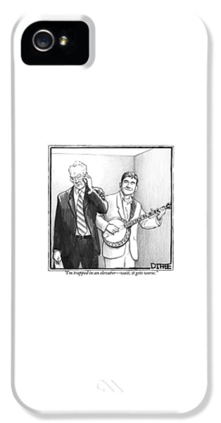 Musicians iPhone 5s Case - A Man In A Business Suit Is Talking On His Cell by Matthew Diffee
