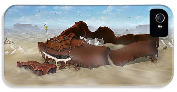 Buzzard iPhone 5s Case - A Slow Death In Piano Valley by Mike McGlothlen