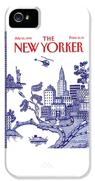 Helicopter iPhone 5s Case - A View Of New York City by Pamela Paparone
