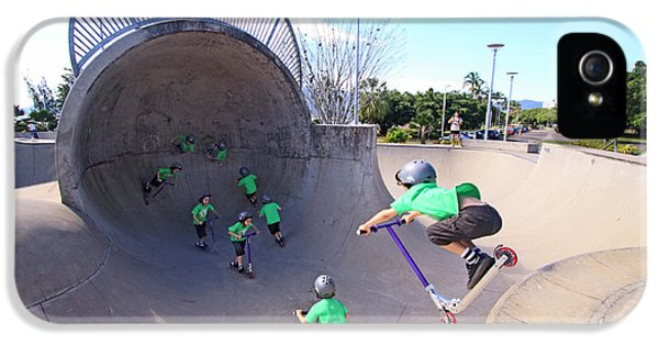 Far North Queensland iPhone 5s Case - A Young Boy Rides His Scooter by Paul Dymond