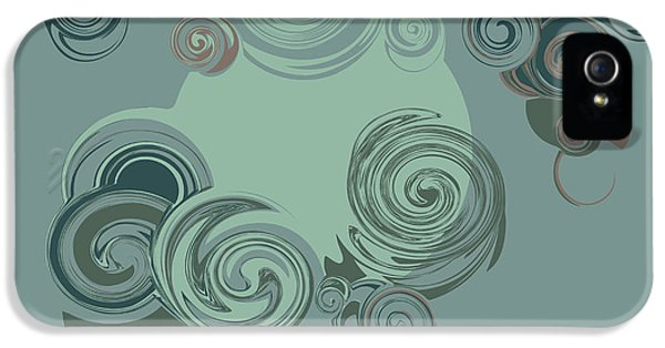 Fairy iPhone 5s Case - Abstract Circles Pattern Background by Castecodesign
