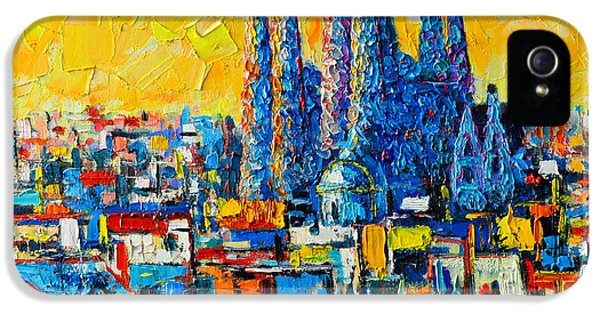 Abstract Sunset Over Sagrada Familia In Barcelona IPhone 5s Case