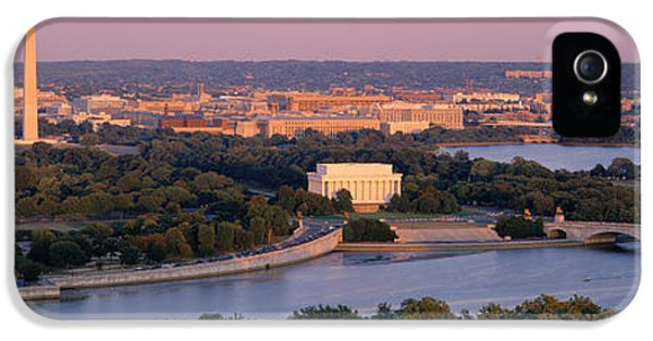 Washington Monument iPhone 5s Case - Aerial, Washington Dc, District Of by Panoramic Images