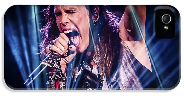 Aerosmith Steven Tyler Singing In Concert IPhone 5s Case by Jani Bryson