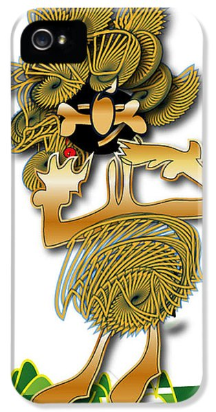 IPhone 5s Case featuring the digital art African Dancer With Bone by Marvin Blaine