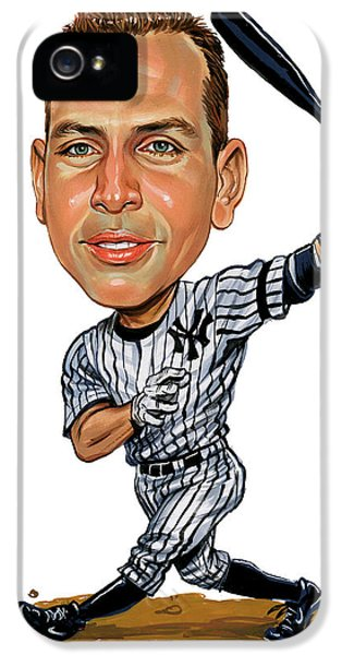 New York Yankees iPhone 5s Case - Alex Rodriguez by Art