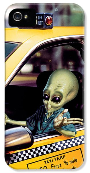 Alien Cab IPhone 5s Case by Steve Read