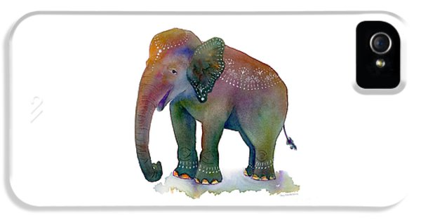 Elephant iPhone 5s Case - All Dressed Up by Amy Kirkpatrick