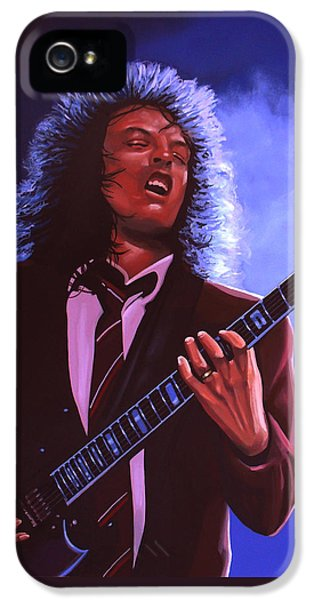 Rock And Roll iPhone 5s Case - Angus Young Of Ac / Dc by Paul Meijering