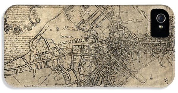 Antique Map Of Boston By William Price - 1769 IPhone 5s Case by Blue Monocle