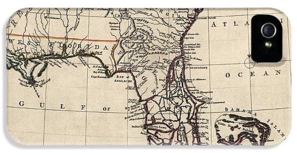 Antique Map Of Florida And The Southeast By Thomas Jefferys - 1768 IPhone 5s Case