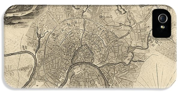 Antique Map Of Moscow Russia By Ivan Fedorovich Michurin - 1745 IPhone 5s Case by Blue Monocle