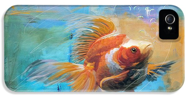 Goldfish iPhone 5s Case - Aqua Gold by Catf