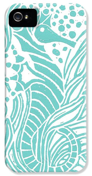 Aqua Seahorse IPhone 5s Case by Stephanie Troxell