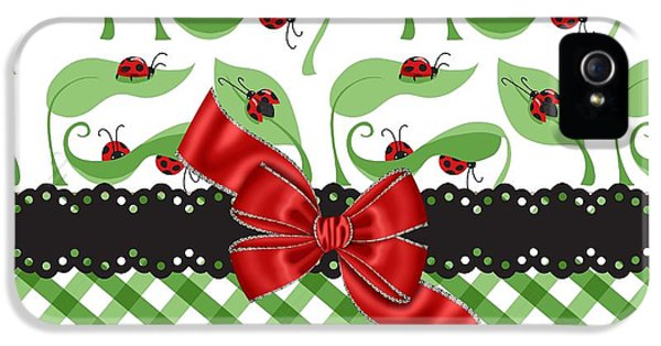 Asiatic Ladybugs  IPhone 5s Case by Debra  Miller