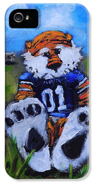 Aubie With The Cows IPhone 5s Case by Carole Foret