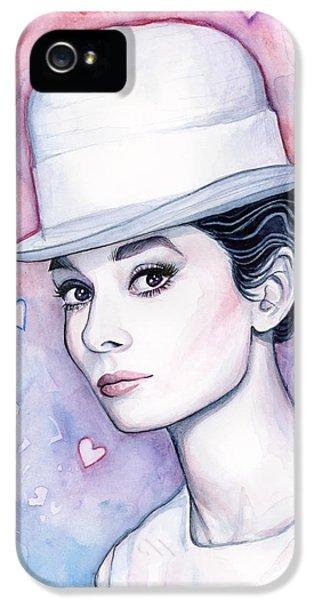 Audrey Hepburn Fashion Watercolor IPhone 5s Case