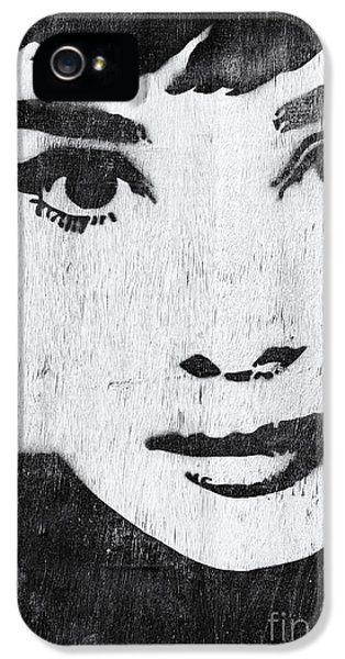 Audrey Hepburn IPhone 5s Case by Tim Gainey