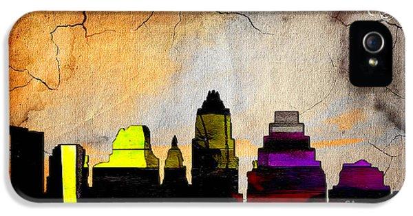 Austin Skyline Watercolor IPhone 5s Case