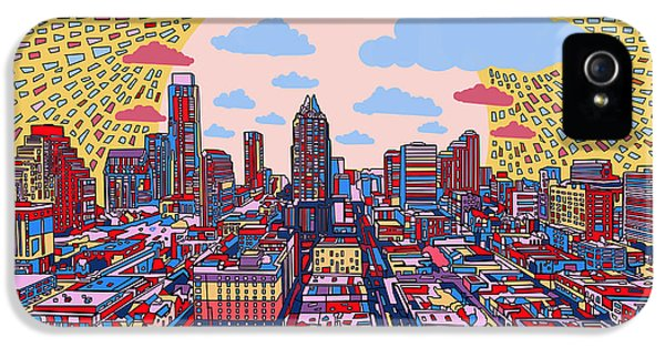 Austin Texas Abstract Panorama 2 IPhone 5s Case by Bekim Art